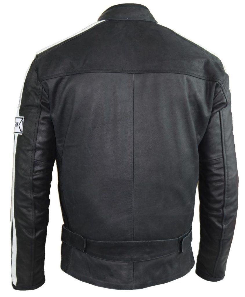 Herren Motorrad Lederjacke XL.