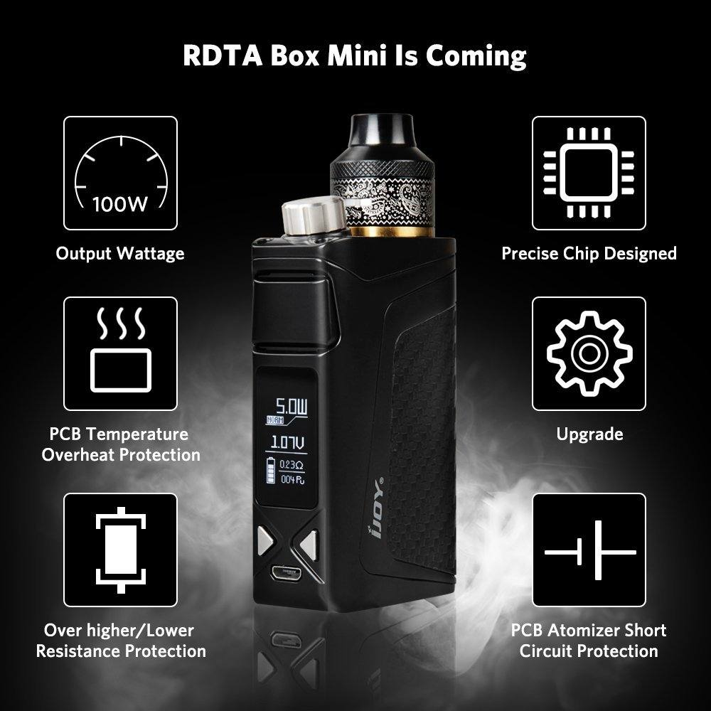 IJOY ® RDTA BOX 100W E-Zigarette Vape Mod Box Kit - Verbesserte RDTA All-in-one elektronische Zigarette