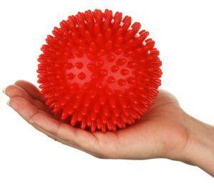 Igelball Massageball mit Noppen und Lacrosse-Bälle - für Tiefenmassage von Verspannungen und Triggerpunkten - als Set oder einzeln