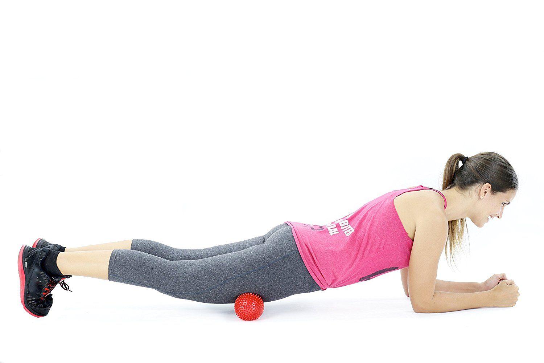 Igelball Massageball mit Noppen und Lacrosse-Bälle - für Tiefenmassage von Verspannungen und Triggerpunkten