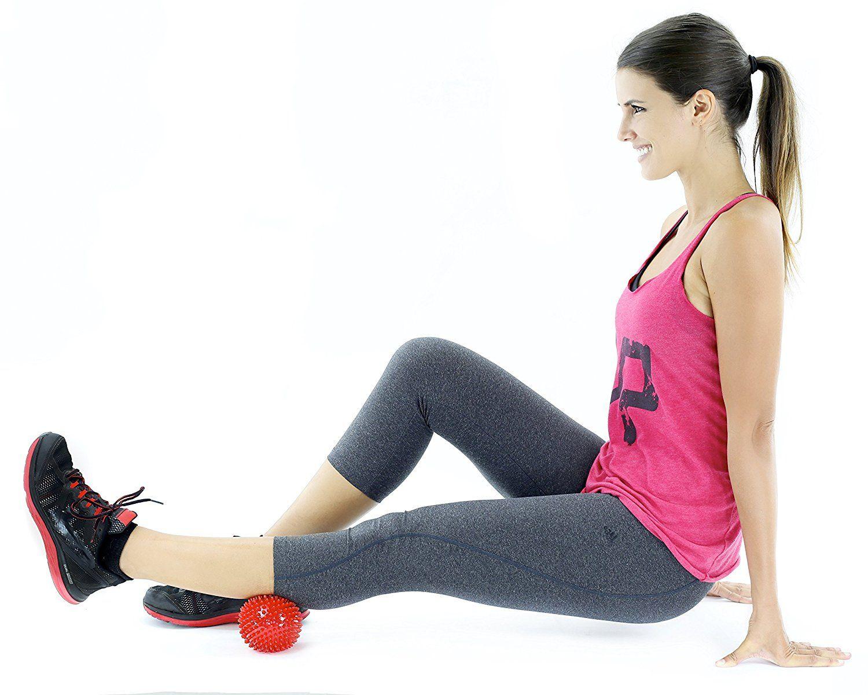 Igelball Massageball mit Noppen und Lacrosse-Bälle