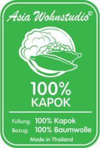 Kapok Sitzkissen 35x35x6,5cm der Marke Asia Wohnstudio KAPOK