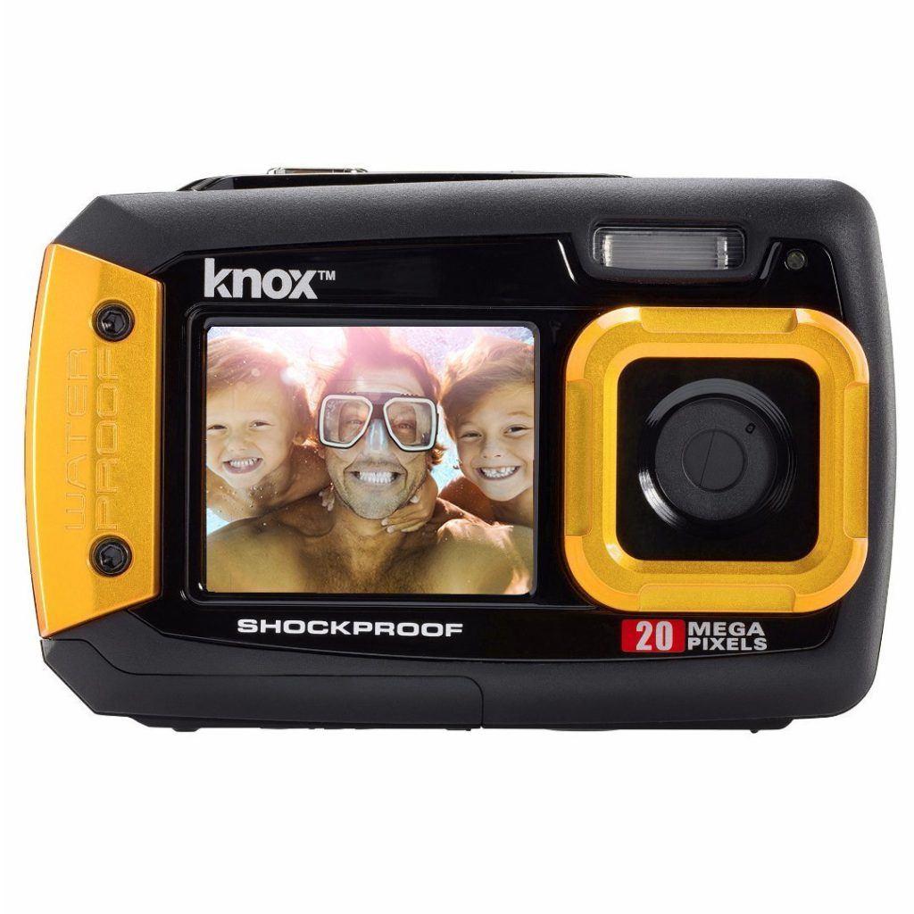 Knox Dual LCD Display 20MP Wasserdicht Und Sto%C3%9Ffest Digitalkamera Gelb