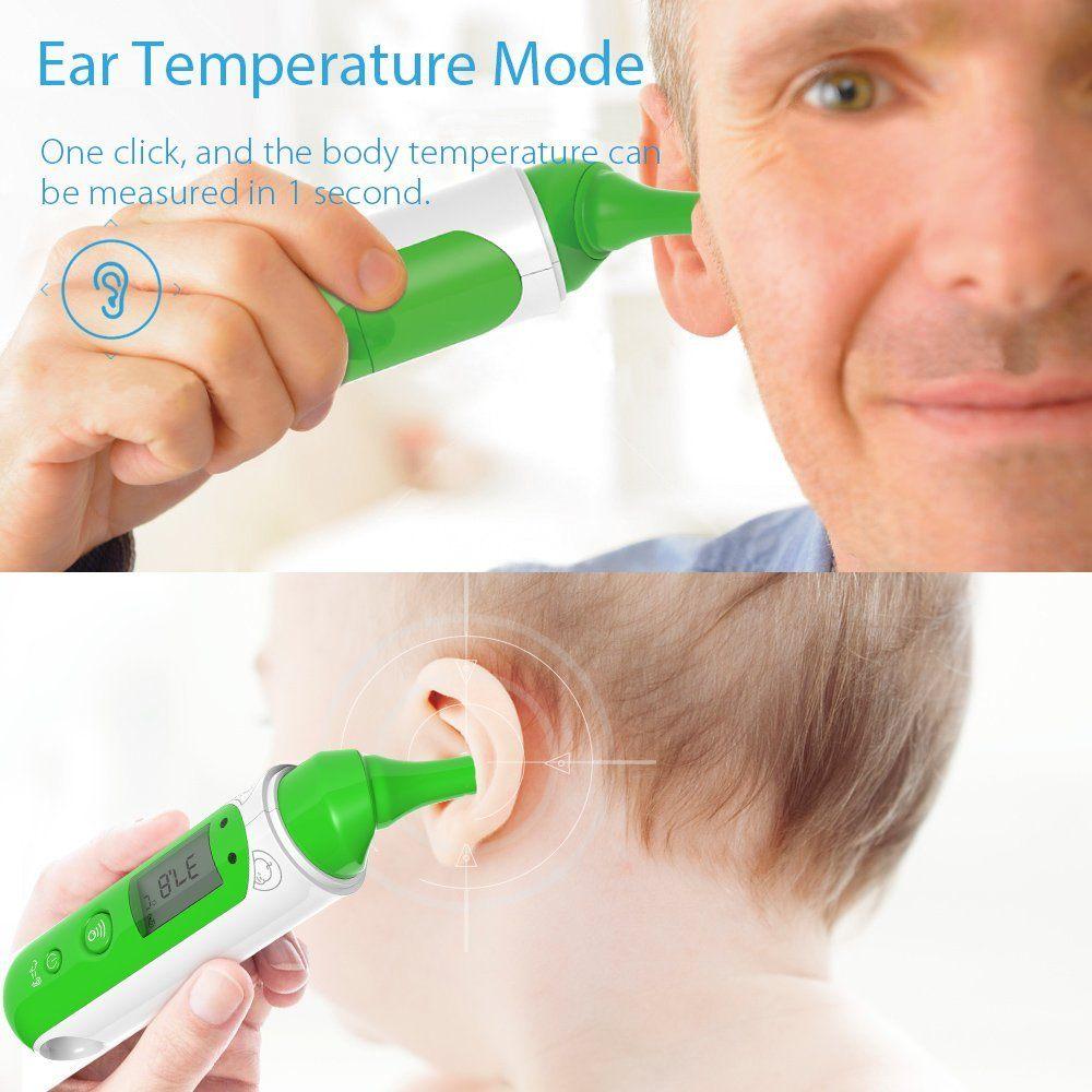 Koogeek Infrarot Digital Fierberthermometer Ohr Stirn Thermometer Bluetooth LCD Display Dual Mode F%C3%BCr Baby Kinder Erwachsenen..