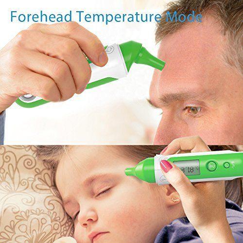 Koogeek Infrarot Digital Fierberthermometer Ohr Stirn Thermometer Bluetooth LCD Display Dual Mode F%C3%BCr Baby Kinder Erwachsenen.