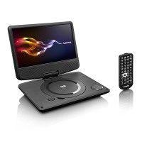 Lenco DVP-9331 tragbarer DVD-Player (22,9 cm (9 Zoll), USB, TFT, 180 Grad Bildschirm, Netzadapter, Fernbedienung, 12V Fahrzeugadapter)