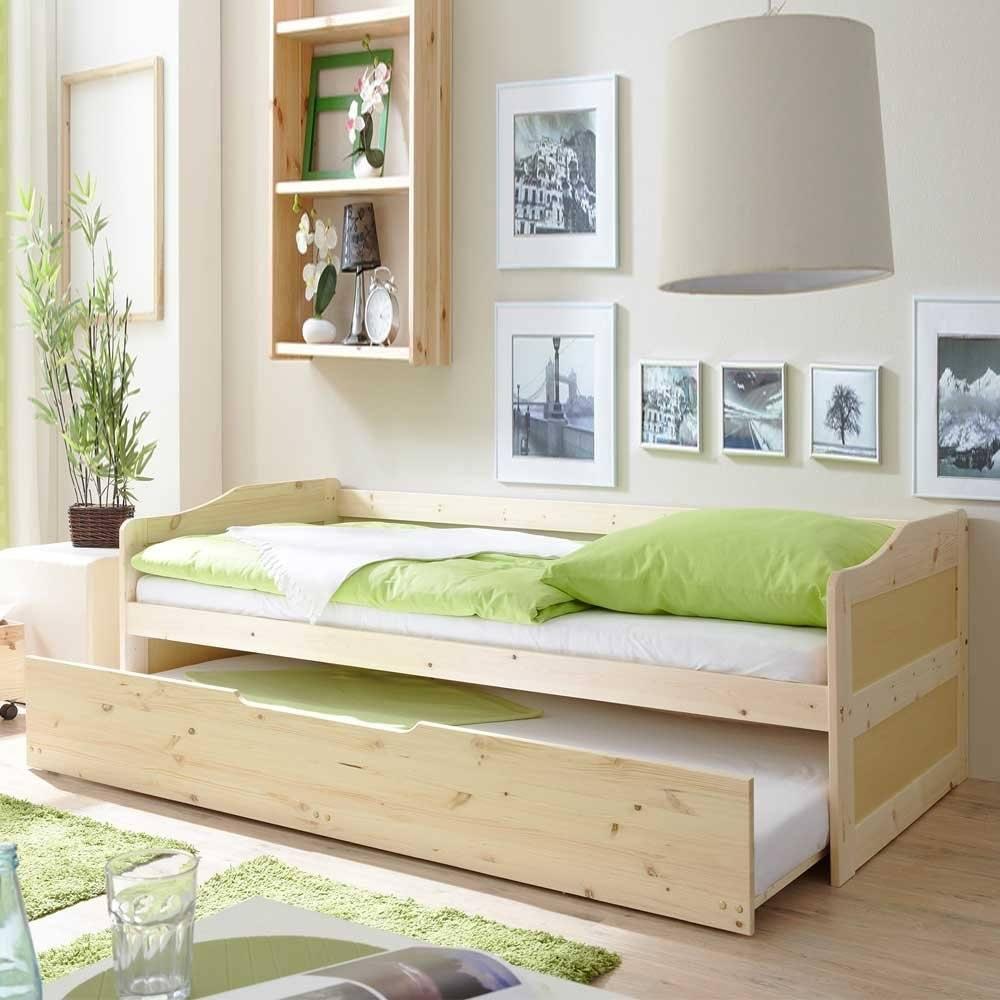 Massivholzbett Mit Bettkasten G%C3%A4stebett