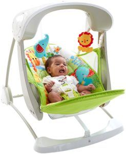 Die Mattel Fisher-Price CCN92 2 in 1 Babyschaukel belegt den 6. Platz.
