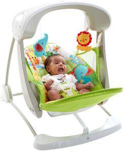 Die Mattel Fisher-Price CCN92 2 in 1 Babyschaukel belegt den 6. Platz.