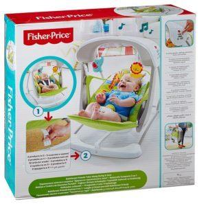 Die Mattel Fisher-Price CCN92 2 in 1 Babyschaukel ist vom zweitgrößten Spielzeug Hersteller der Welt.