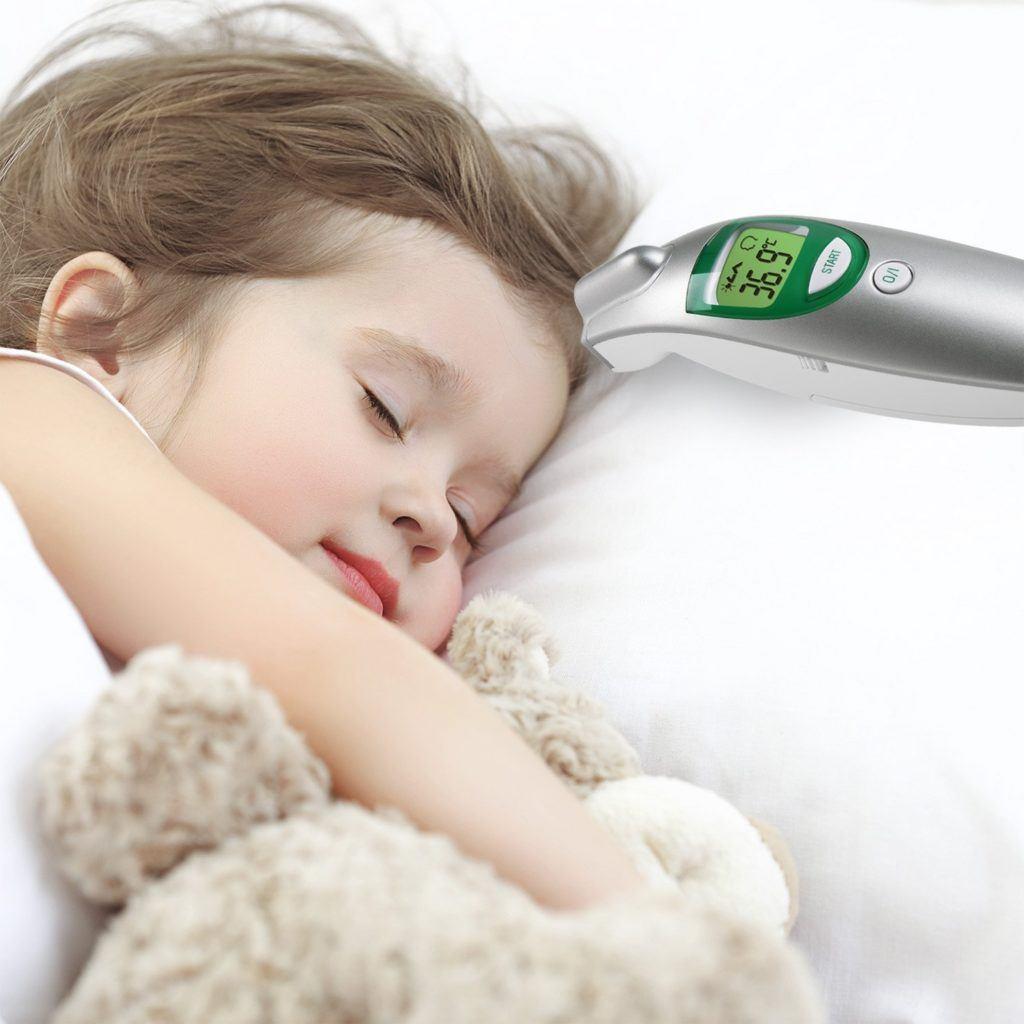 Medisana FTN Infrarot Fieberthermometer Visueller Fieberalarm Ber%C3%BChrungslose Messung