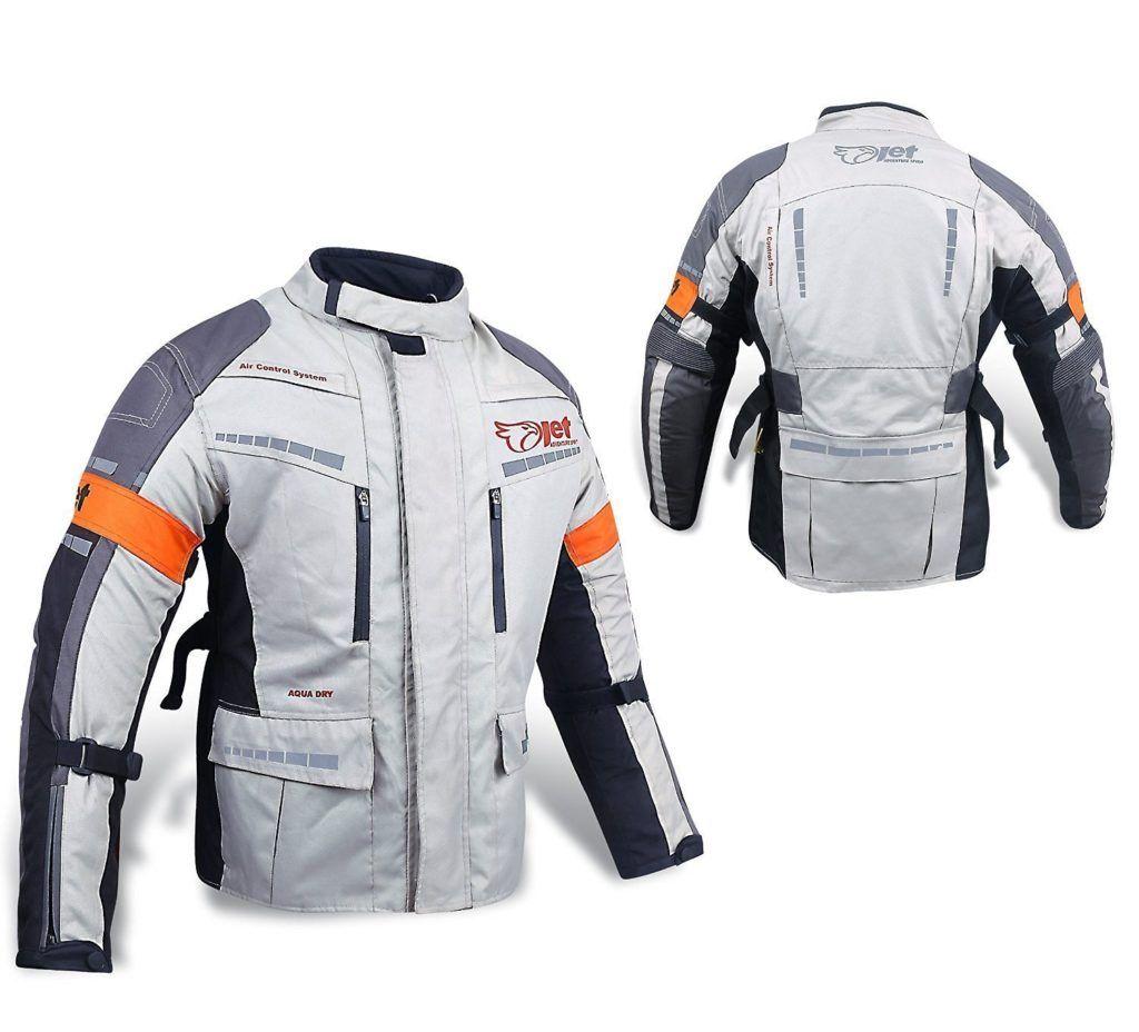 Motorradjacke Textil Wasserdicht Winddicht Mit Protektoren.