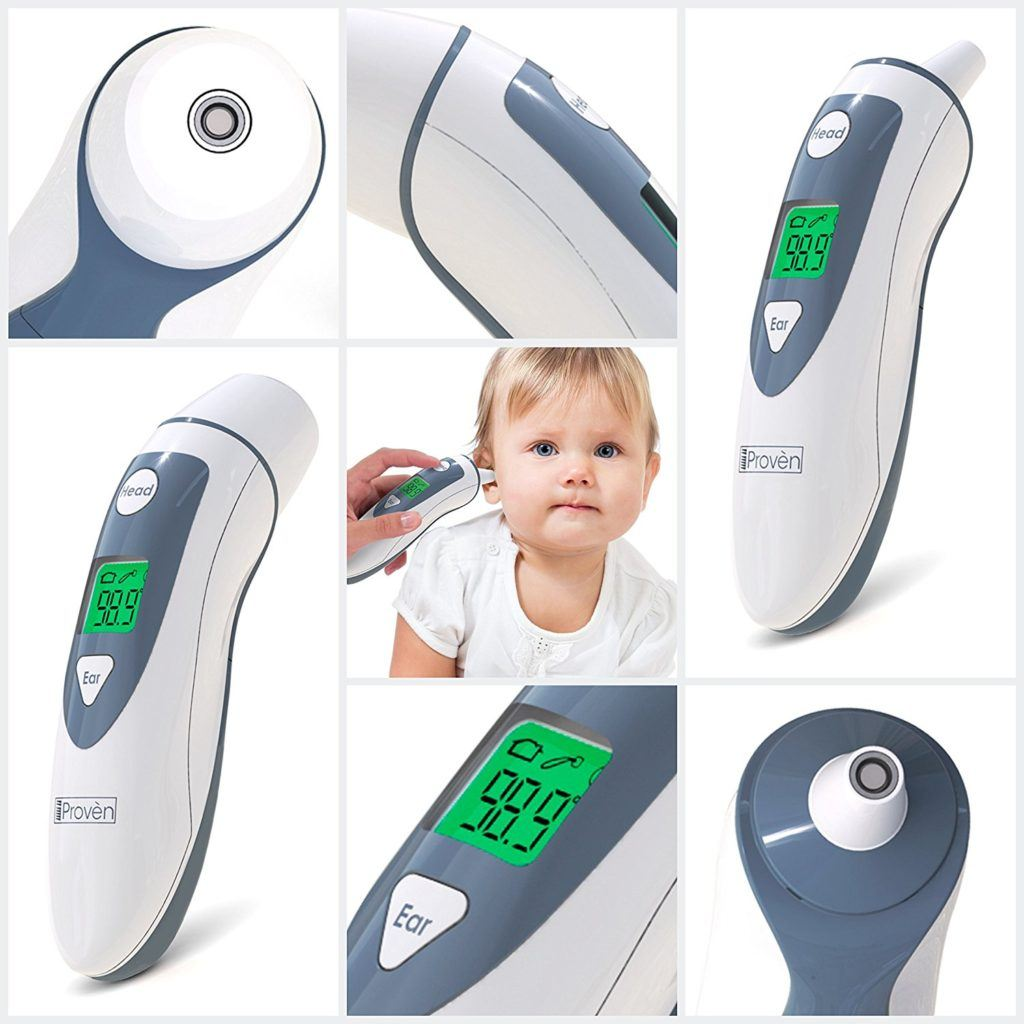 Original IProv%C3%A8n Ohr Fieberthermometer Mit Stirn Thermometer Funktion Mit Fieber Indikator CE Zertifiziert DMT 489.