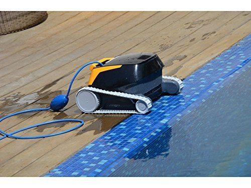 Poolroboter von Dolphin am Beckenrand