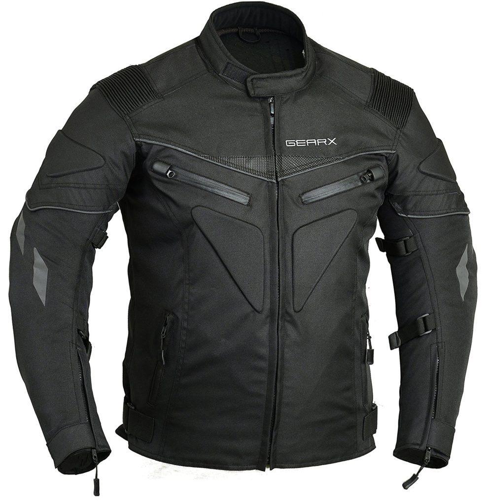 R%C3%BCcken Gepolstert Motorrad Jacke Wasserdicht Atmungsaktiv Mit Protektoren.