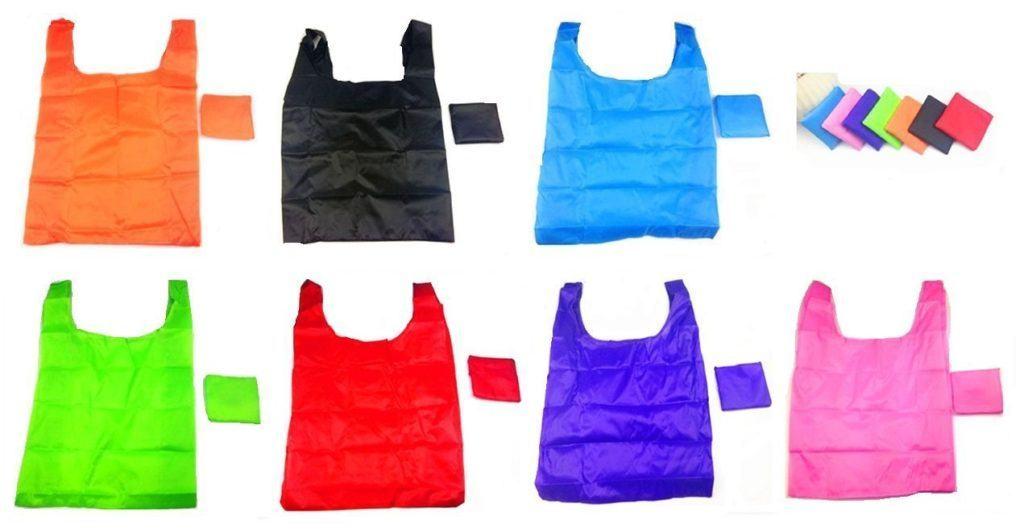 RayLineDo%C2%AE Packung Mit 7 Strawberry Reusable Faltbare Einkaufstasche Grocery Einkaufstragetaschen Bequeme Einkaufst%C3%BCten Und Handlich Einkaufen Reisetaschen.