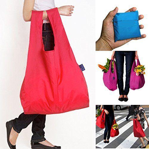 RayLineDo%C2%AE Packung Mit 7 Strawberry Reusable Faltbare Einkaufstasche Grocery Einkaufstragetaschen Bequeme Einkaufst%C3%BCten Und Handlich Einkaufen Reisetaschen..