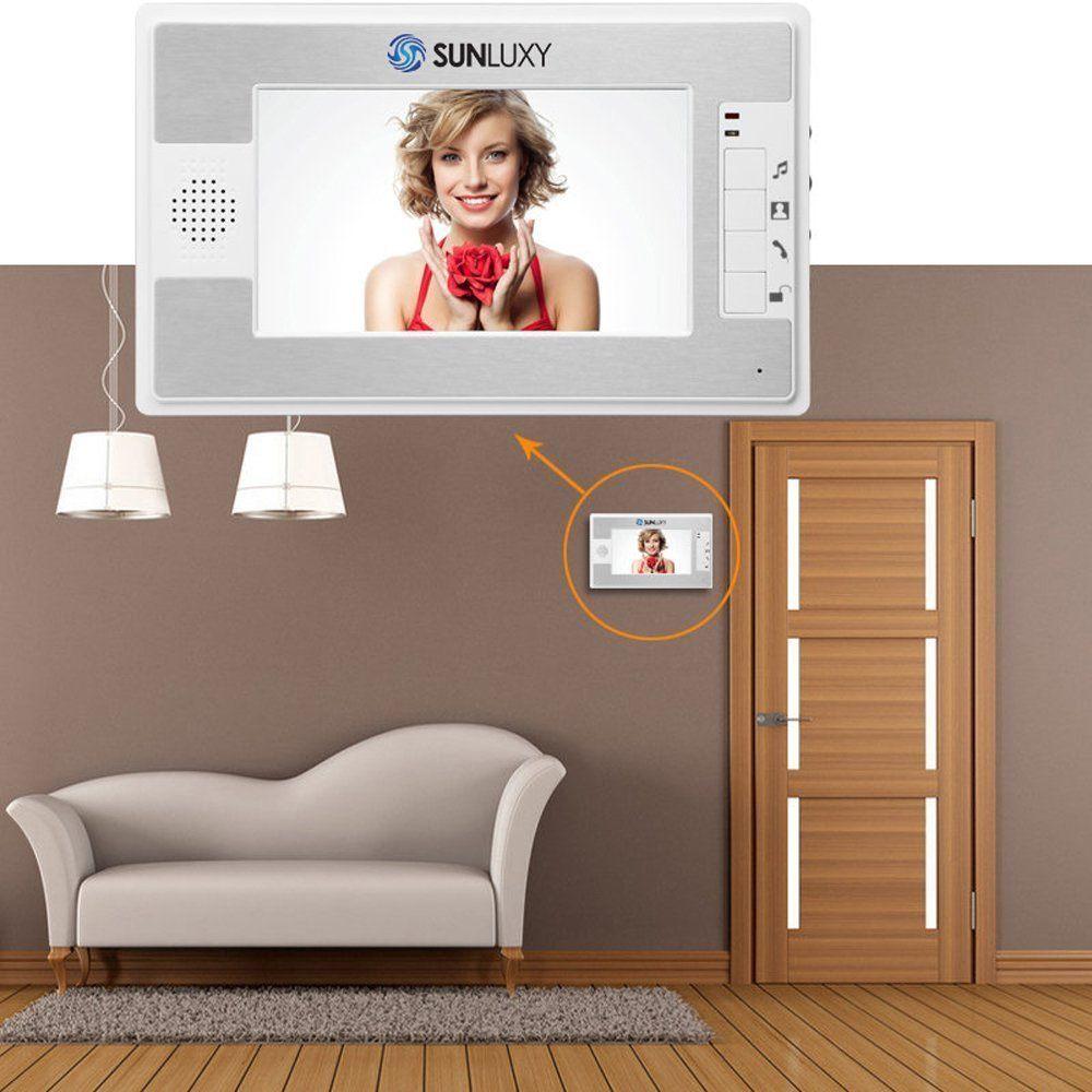 SUNLUXY 7 Zoll LCD Video T%C3%BCrsprechanlage T%C3%BCrklingel Monitor Mit IR Kamera Video T%C3%BCr Telefon Intercom Funktion Nachtsicht 1