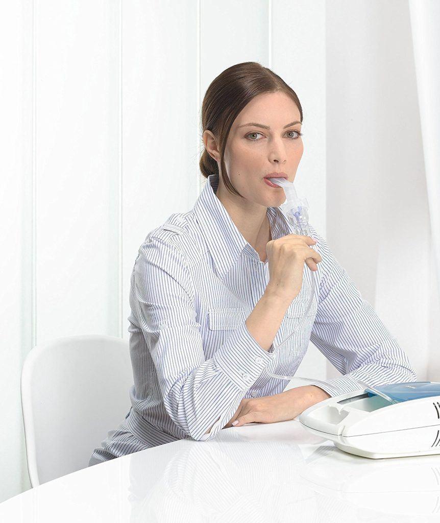Sanitas SIH 21 Inhalator Mit Kompressor Drucklufttechnologie Behandlung Von Atemwegserkrankungen Wie Erk%C3%A4ltungen Bronchitis.