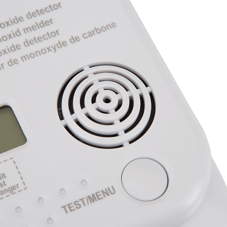 Smartwares Kohlenmonoxid Melder mit Display und Temperaturanzeige, Prüftaste, RM370 Test Taste