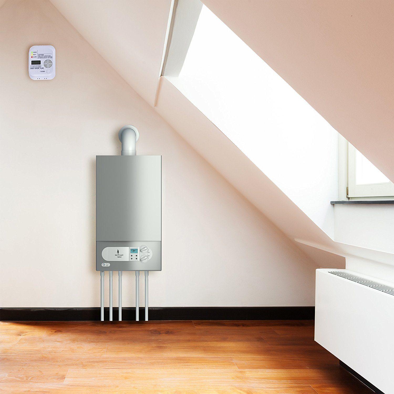 Smartwares Kohlenmonoxid Melder mit Display und Temperaturanzeige, Prüftaste, RM370 Test