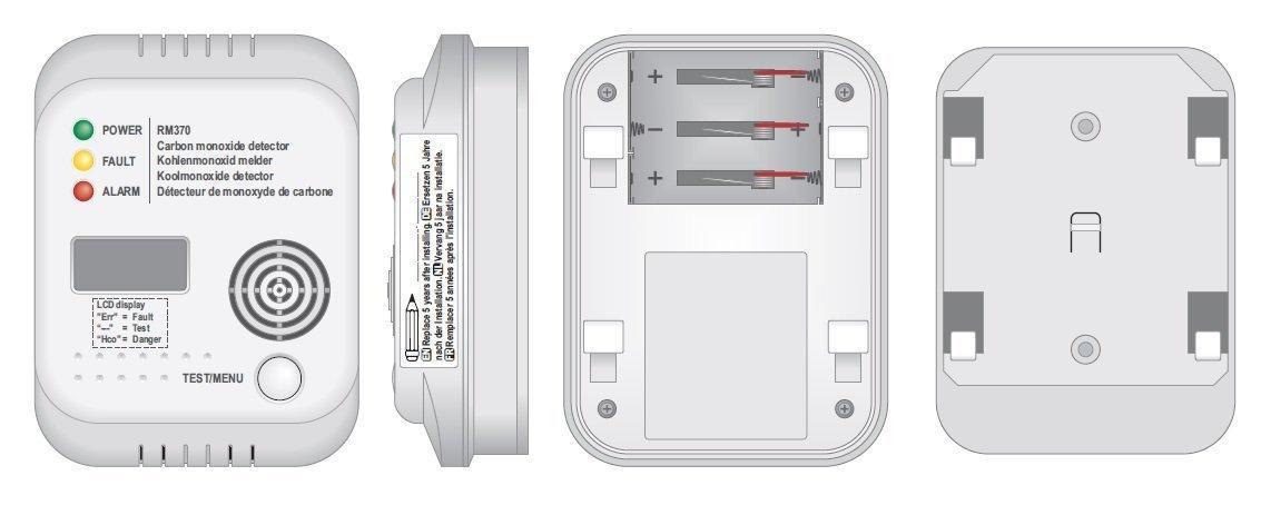 Smartwares Kohlenmonoxid Melder mit Display und Temperaturanzeige