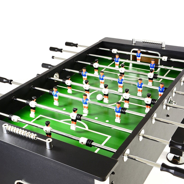 Tischfußball Profi Black Edition Tischkicker Fortaleza Von Nexos Spielfeld