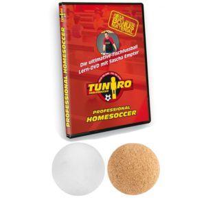 Alles wichtige beim Tischfussball Rustic V Advance Serie ist im Lieferumfang.