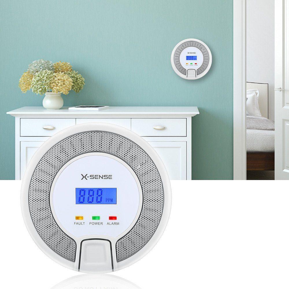 X-Sense CO03D CO Melder Kohlenmonoxid CO-Detektor Batteriebetrieben Sensor und Alarm mit Digitalanzeige und Höchstwertspeicherung Test