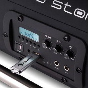 Der auna Soundstorm Ghettoblaster hat unter anderem einen USB Steckplatz.