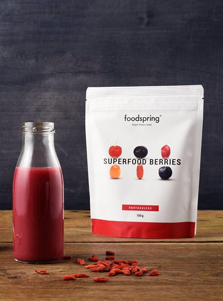 Foodspring Superfood Berries Obstauslese Smoothie Pulver 150g