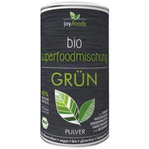 joy.foods Bio Superfood- und Proteinmischung Grün 180 g - Mit Spinat, Weizengras, Erbsenprotein, Gerstengras und Moringa