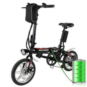 Ancheer Faltbares E-Bike, Elektrofahrrad Klapprad 250W Mountainbike, Große Kapazität Pedelec mit 36V Lithium-Akku und Ladegerät