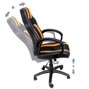 Bürostuhl Deluxe Orange Bürostuhl Höhe und Rückenlehne verstellbar