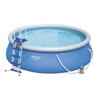 Bestway Fast Set Pool Set mit Filterpumpe + Zubehör, 366 X 91cm