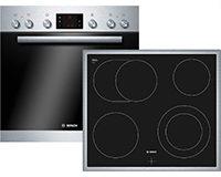 Bosch HND32PS55 Backofen-Kochfeld-Kombination / A / 66 L / 3D Heißluft Plus / 1 Zweikreis-Kochzone / 60 cm / edelstahl [Energieklasse A]