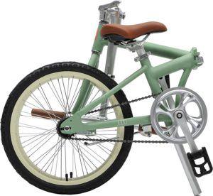 Critical Cycles Uni Judd Single-Speed with Coaster Brake Folding Bike, Matte Sage Green