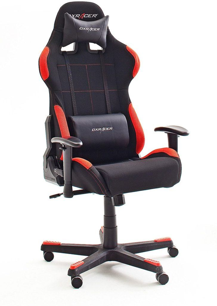 DX Racer 1 Gamingstuhl Bürosessel schwarz-rot