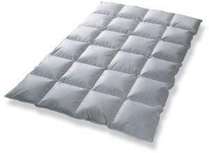 Daunendecke Bettdecke Kassettenbett gefüllt mit 80% Daunen 135x200 Garantiert kein Lebendrupf NEU&OVP Ganzjahresdecke (135x200 gefüllt mit 1000 gr. 80% Daunen 20% Federn)