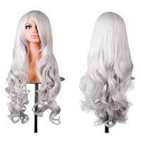 Doramior-®-32-80cm-Spiral-Curly-Cosplay-Perücke-(Weiß)