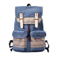 Douguyan-Damen-Daypack-Baumwoll-Rucksack-Freizeitrucksack-mit-Muster-Canvas-Girls-School-Backpack