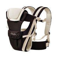 ELENKER Babytrage, Bauch-, Rücken- und Hüfttrage, 4 Tragpositionen (3-18KG, 0-30 Monate) Khaki