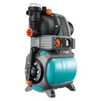 Gardena 1755-20 Pumpe Hauswasserwerk Comfort 5000/5 Eco, mit Trockenlaufsicherung, Rückschlagventil; 3 Anschlüsse (Motorleistung 1100W, Max. Fördermenge 4500 l/h, Gewicht 17kg)