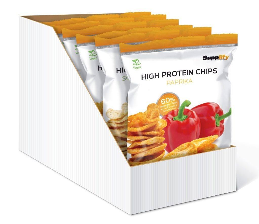 High Protein Chips Eiwei%C3%9F Fitness Snack Von Supplify Mixed 6x50g Whey Proteinpulver Riegel Ersatz In 3 Versch. .