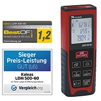 Kaleas Profi-Laser-Entfernungsmesser LDM 500-60