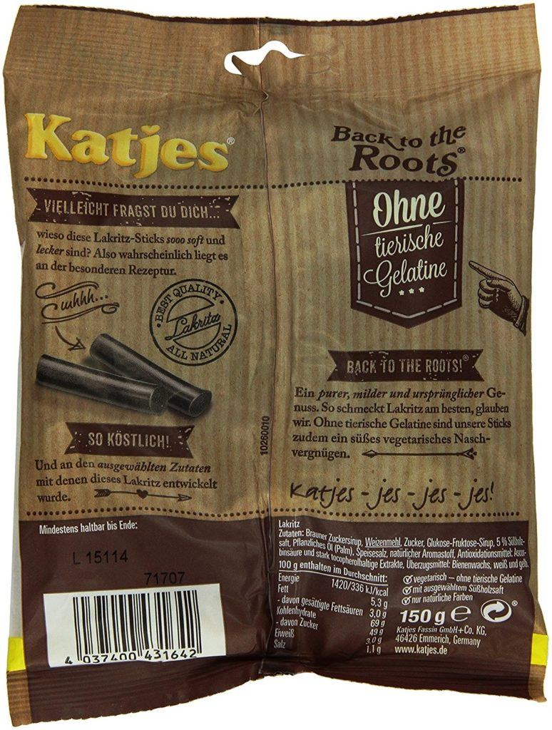 Katjes Back To The Roots Lakritz 150 G.