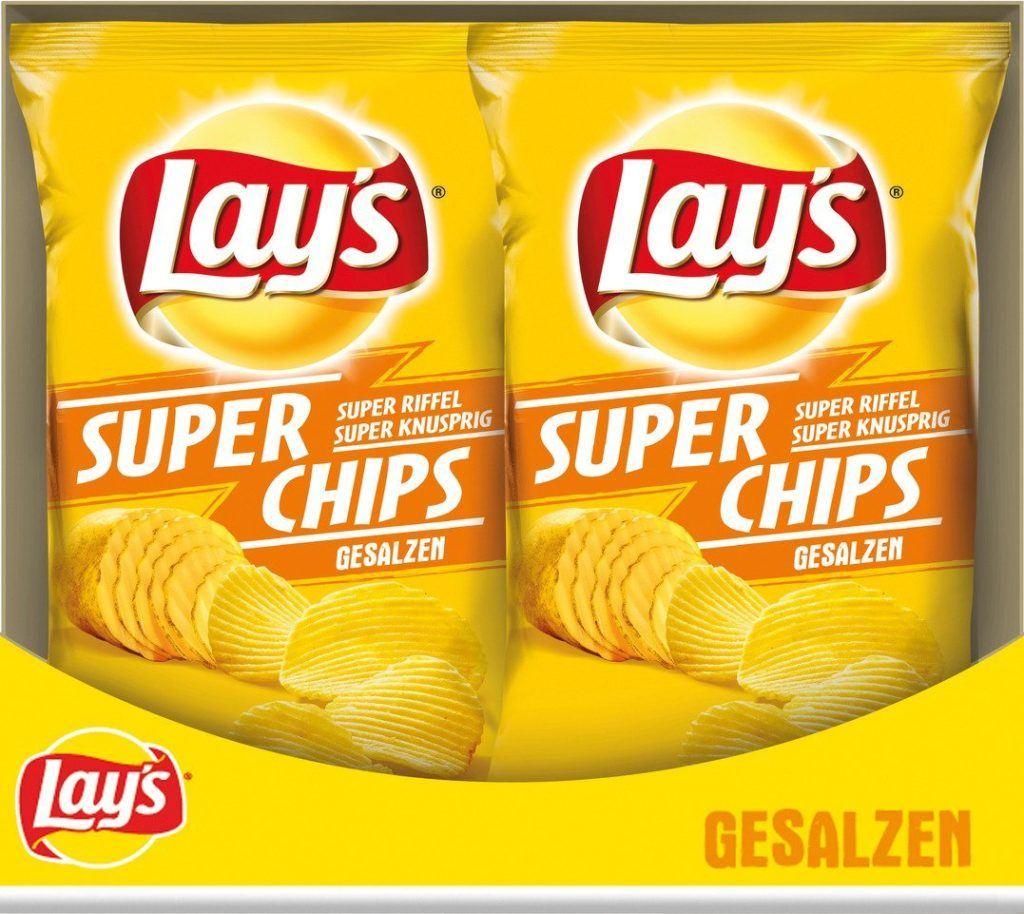 Lays Super Chips Gesalzen 8er Pack 8 X 175 G