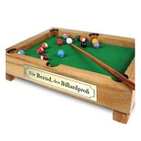 Mini Billardtisch aus Edelholz – Personalisiert mit Namen