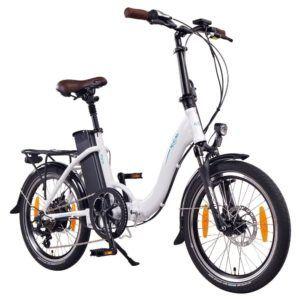 NCM Paris 20 Zoll E-Bike,E-Faltrad,36V 15Ah 540Wh Akku,250W Bafang Heckmotor,mechanische Scheibenbremsen