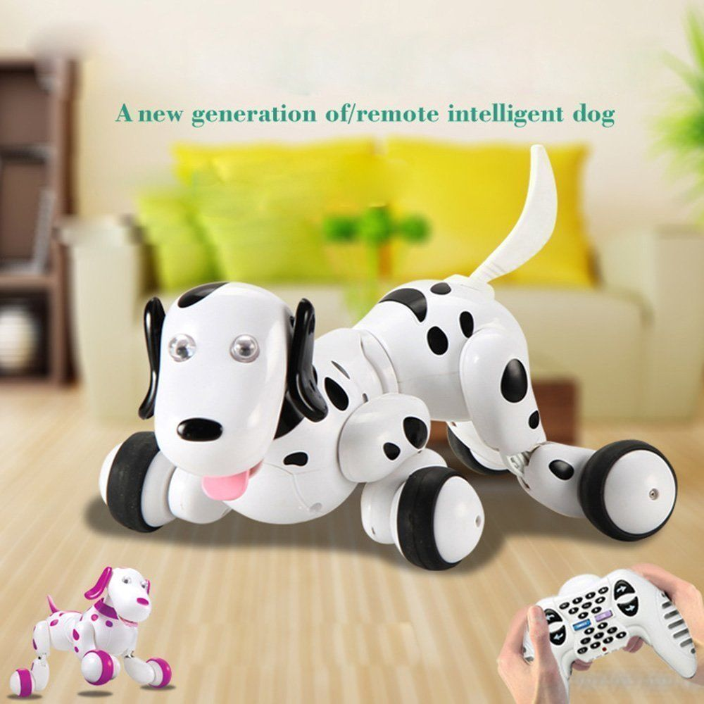 SainSmart Jr. Elektro RC Intelligenter Hund Wireless Interactive Welpe Kinderspielzeug Tanzen Roboter Haustier Schwarz..